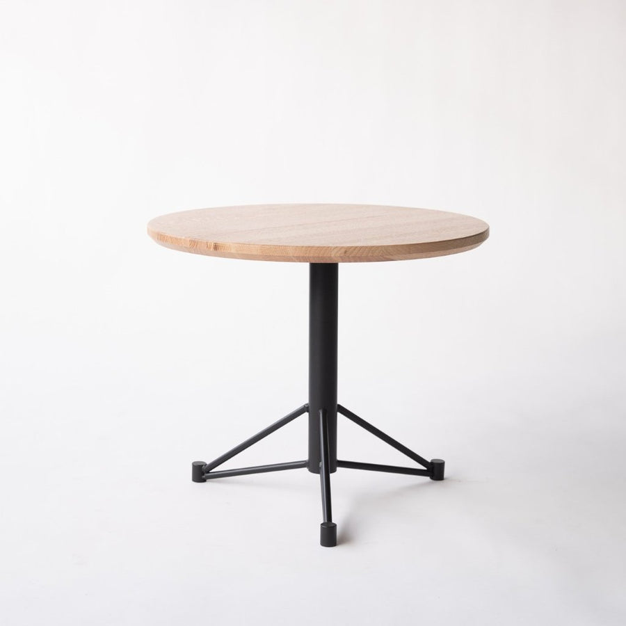 round side table with metal base