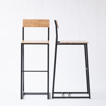 The Scout bar stool by Edgework Creative, custom seating