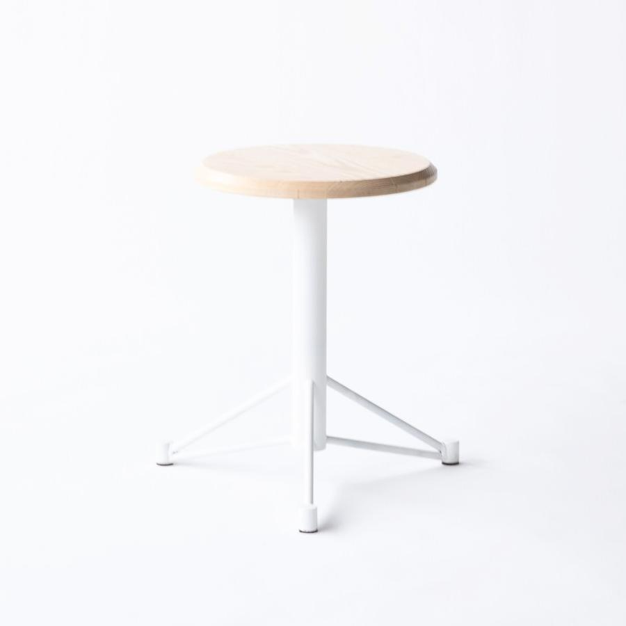 Short Ash Stool White