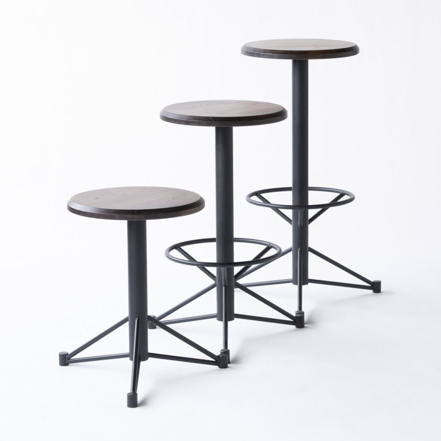 The Mast Stool by Edgework Creative- Elm, customizable wood and metal barstools