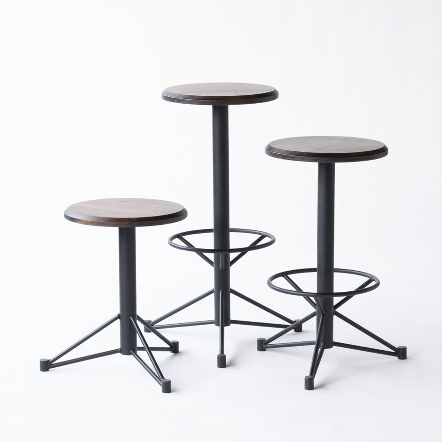 The Mast Stool by Edgework Creative- Elm, barstools with footrest