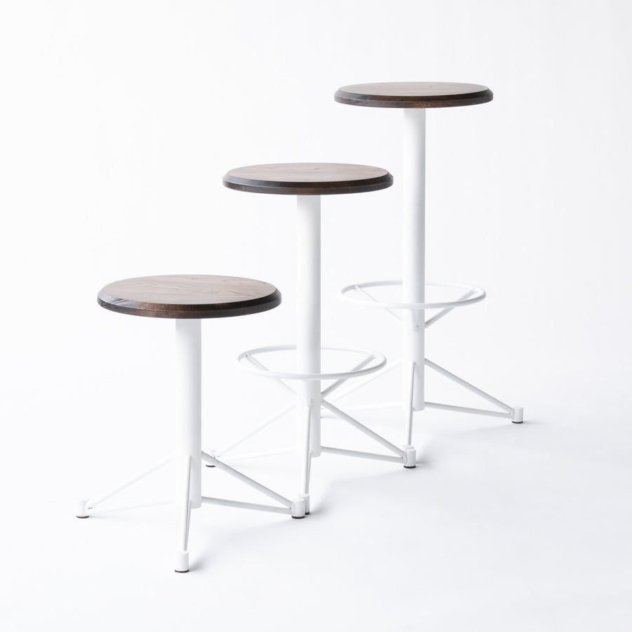 The Mast Stool by Edgework Creative- Elm, modern stools with footrest