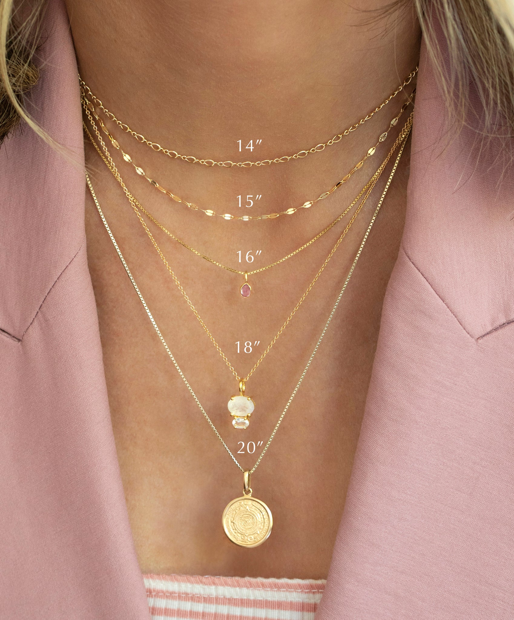 Necklace Layering Length Guide