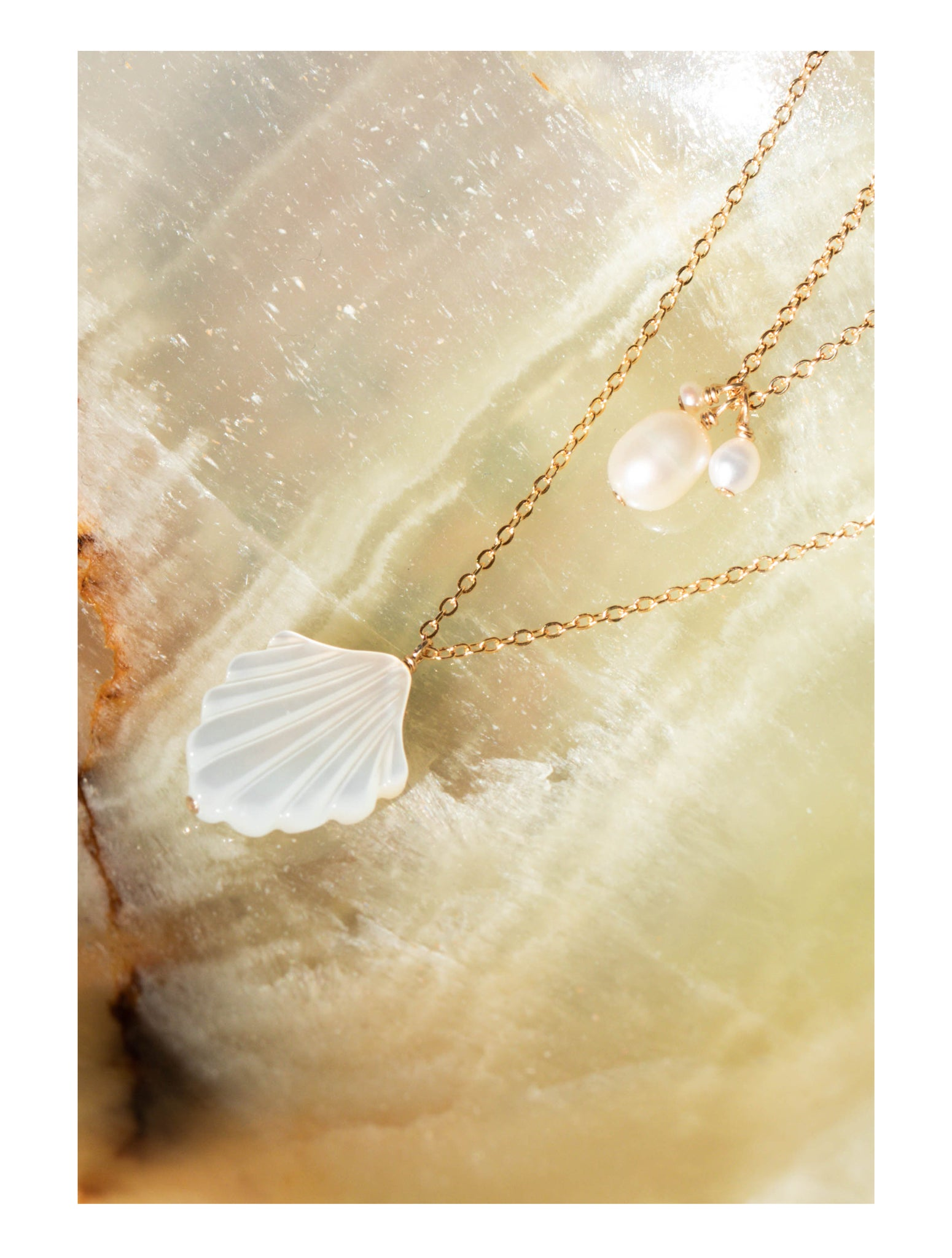 Coquille Necklace, Isabel Necklace