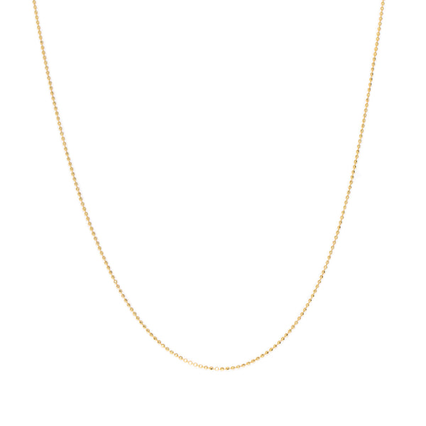 Diamond-Cut Ball Chain Necklace | 10k Gold