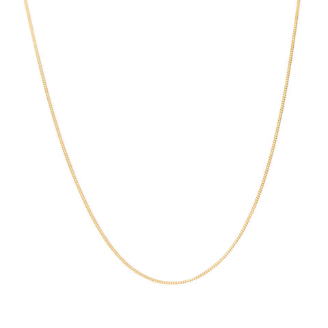 Curb Chain Necklace | 10k Gold