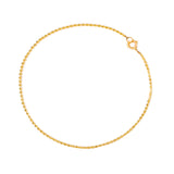 Diamond-Cut Ball Anklet | 10k Gold