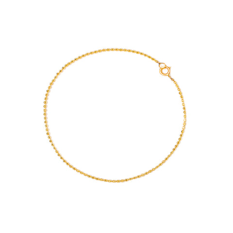 Diamond-Cut Ball Chain Bracelet | 10k Gold