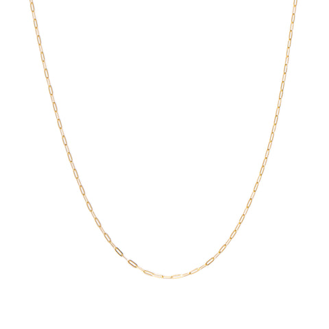Flat Drawn Cable Chain Necklace | 10k Gold