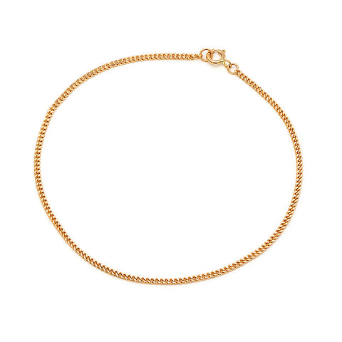Curb Chain Anklet | 10k Gold