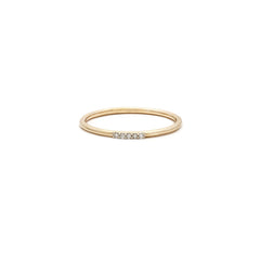 Cinque Ring | 14k Gold & Diamond