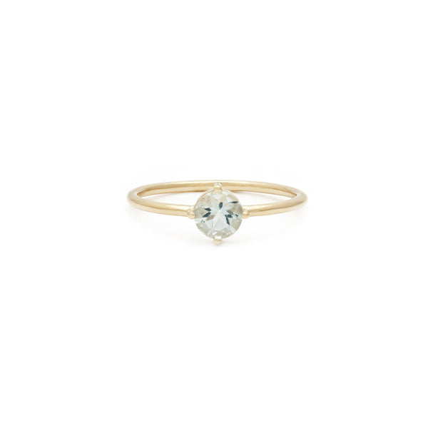 Compass Ring | 14k Gold & Aquamarine