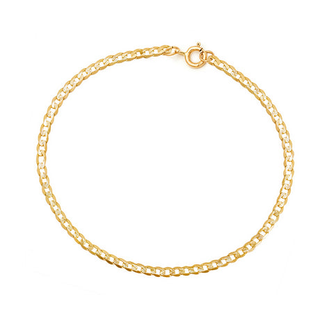 Cubano Chain Anklet | 14K Gold