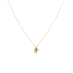 Duet Necklace | 14k Gold & Diamond