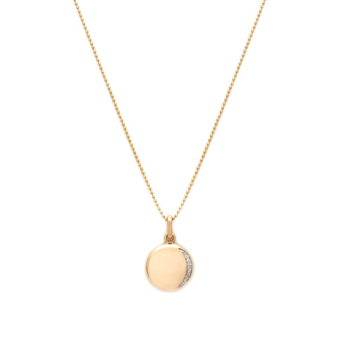 Eclipse Necklace | 14k Gold & Diamond