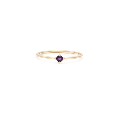 Element Ring | 14k Gold & Amethyst
