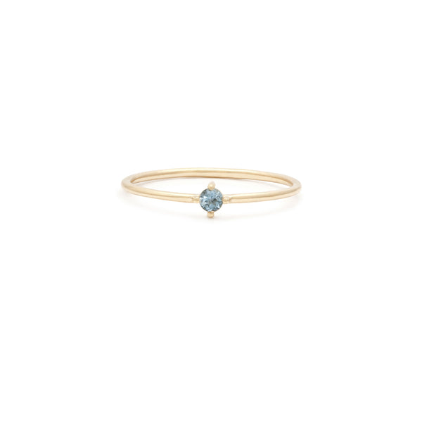 Element Ring | 14k Gold & Aquamarine