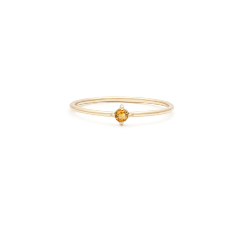 Element Ring | 14k Gold & Citrine