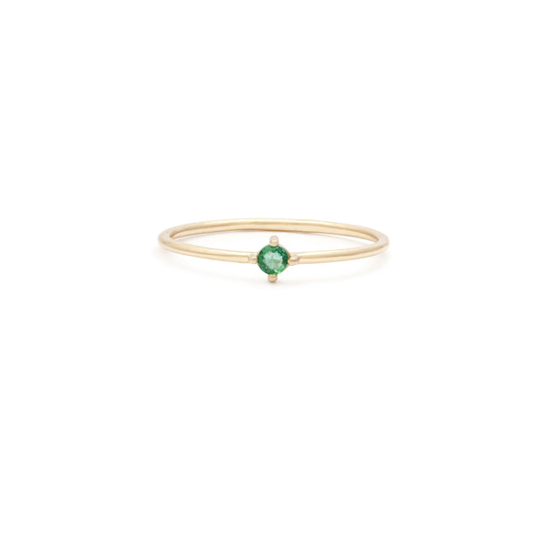 Element Ring | 14k Gold & Emerald