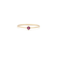Element Ring | 14k Gold & Ruby