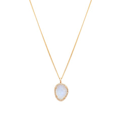 Etereo Necklace | 14k Gold, Moonstone & Diamond