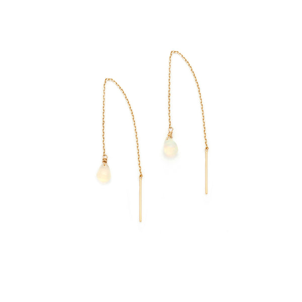Fine Threaders | 14k Gold & Opal