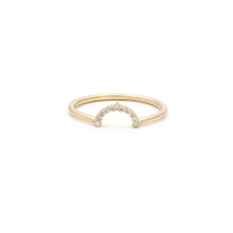 Rainbow Ring | 14k Gold & Diamond