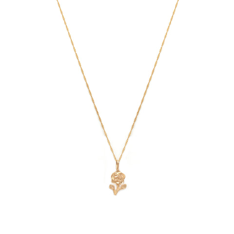Rose Necklace | 14k Gold