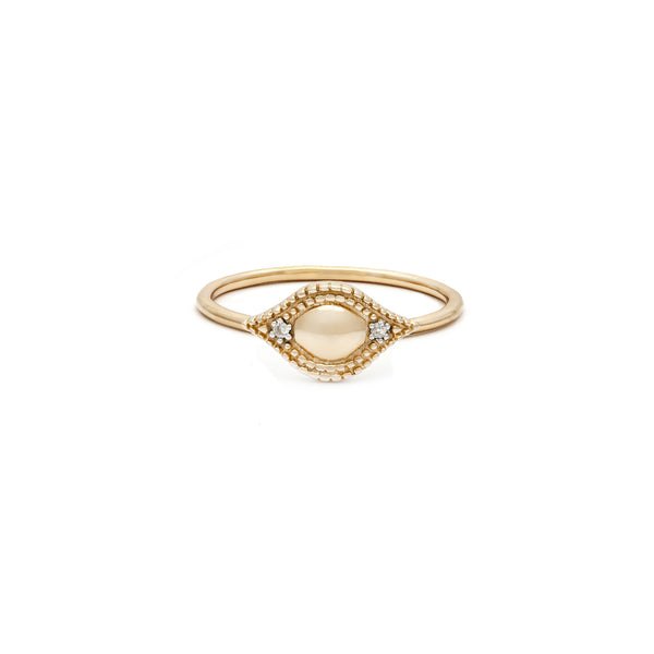 Vestige Ring | 14k Gold & Diamond