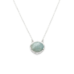 Anni Necklace | Aquamarine