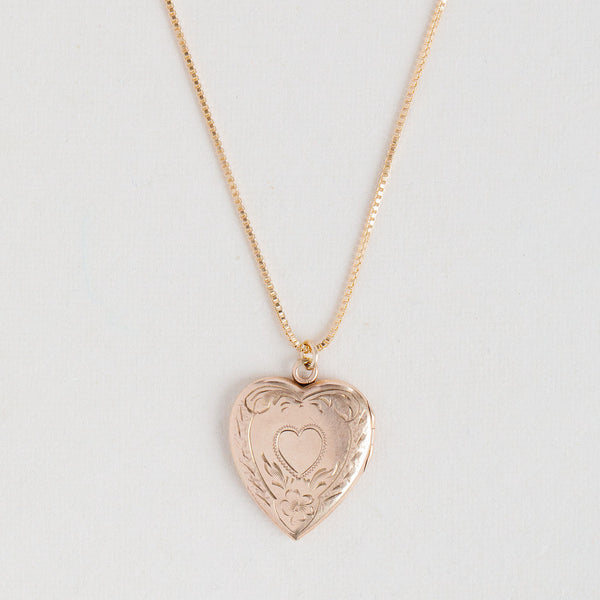Antique Heart Locket - 292