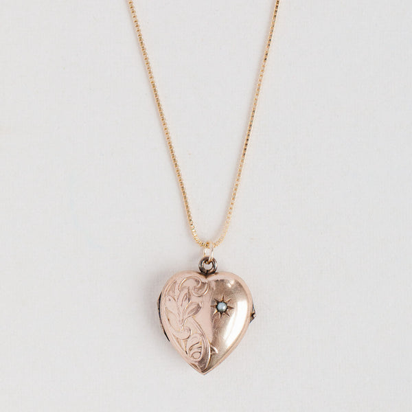 Antique Heart Locket - 309
