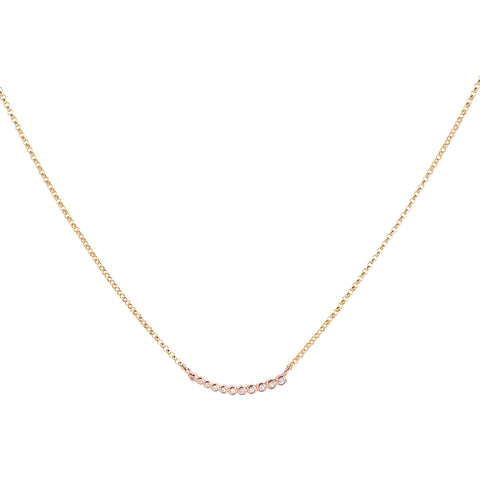 Astro Necklace, Gold, Rosgold, CZ, Jewelry on white background