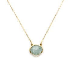 ANNI AQUAMARINE NECKLACE