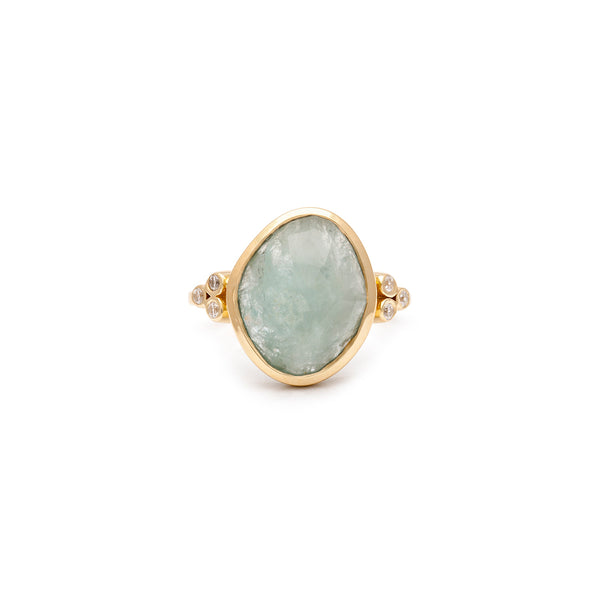 Annie Large Aquamarine Ring