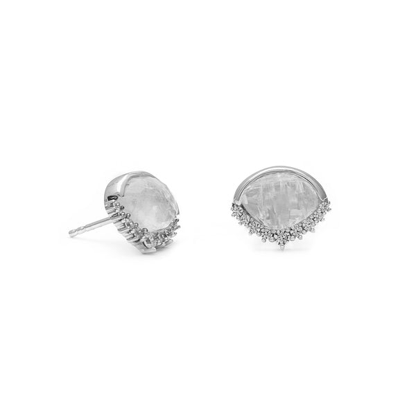 leah alexandra moonstone eye shaped sterling silver anni studs