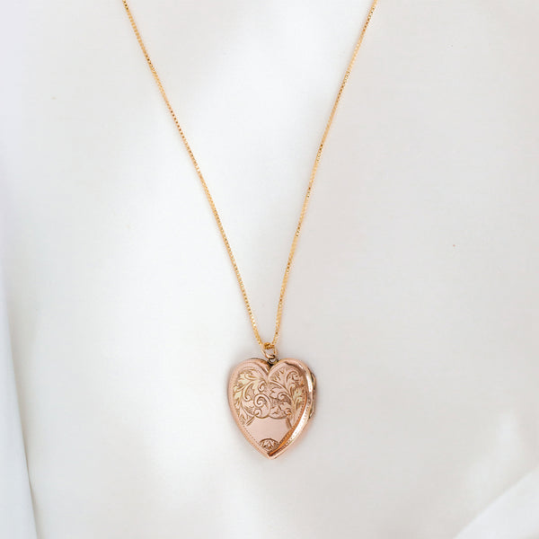 leah alexandra antique heart locket
