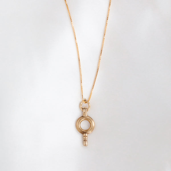 leah alexandra antique key necklace