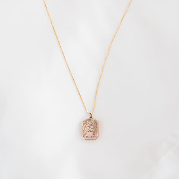 leah alexandra antique rectangle locket
