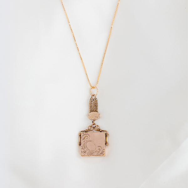 leah alexandra antique square locket