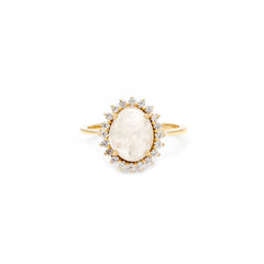 Moonstone Antiquity Ring