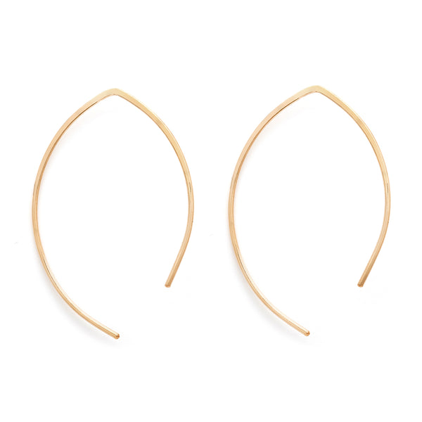 leah alexandra gold fill arch open hoops