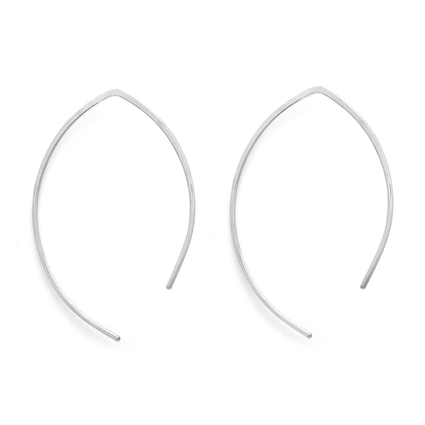 leah alexandra sterling silver open arch hoops