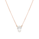 Asana, White Topaz, Rosegold necklace