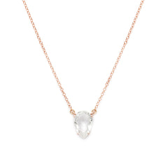 Asana Necklace | White Topaz