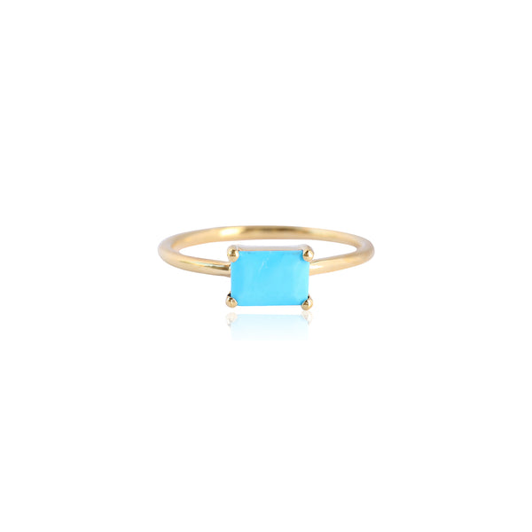 Baguette Turquoise Ring