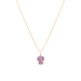 Parisian Inspired Amethyst and Gold Necklace
