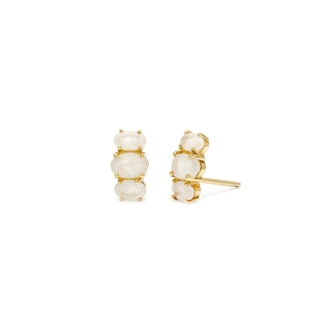 French inspired moonstone and gold Bijou Studs