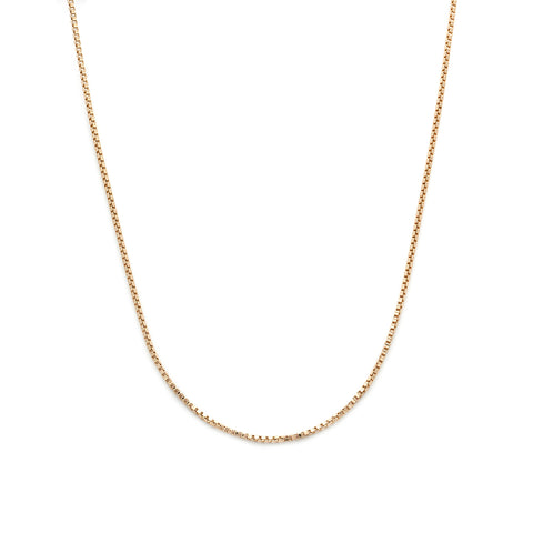 leah alexandra box chain necklace gold