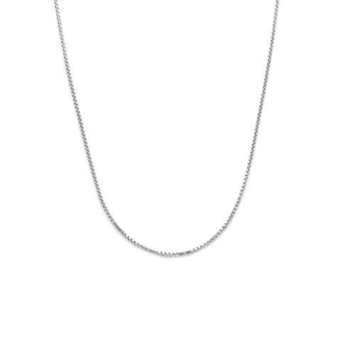 leah alexandra box chain layering necklace silver